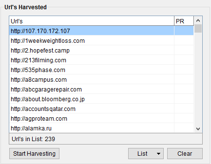 harvested-URLs