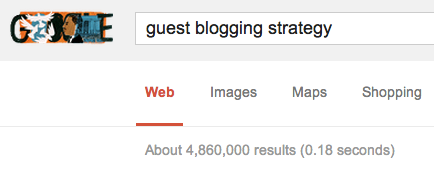 Guest Blogging Strategy