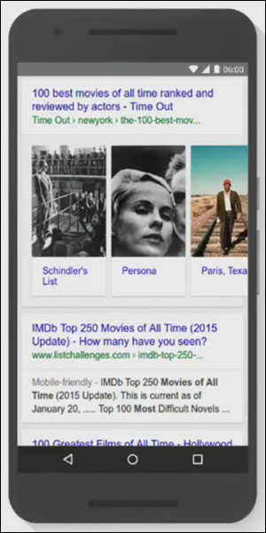 A host-specific list for movies shown at Google I/O